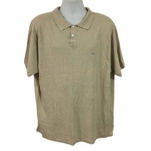 Lacoste Beige Linen Short Sleeve Polo Shirt